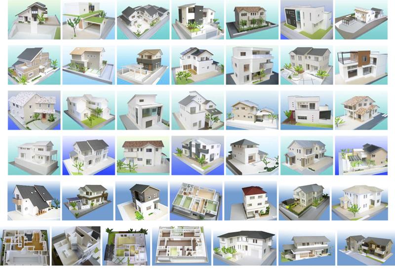 過去の住宅模型の製作実績