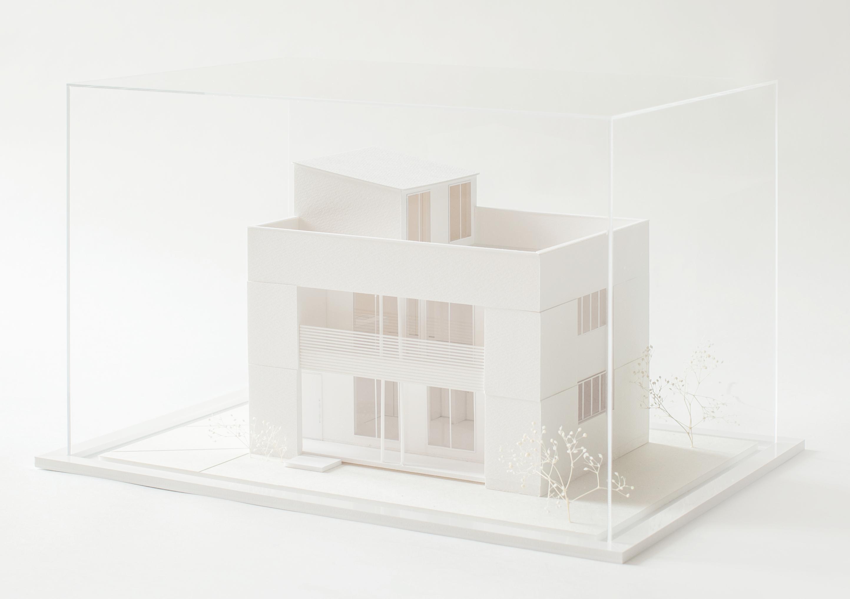 住宅模型+おまかせ外構製作+アクリルケース付き